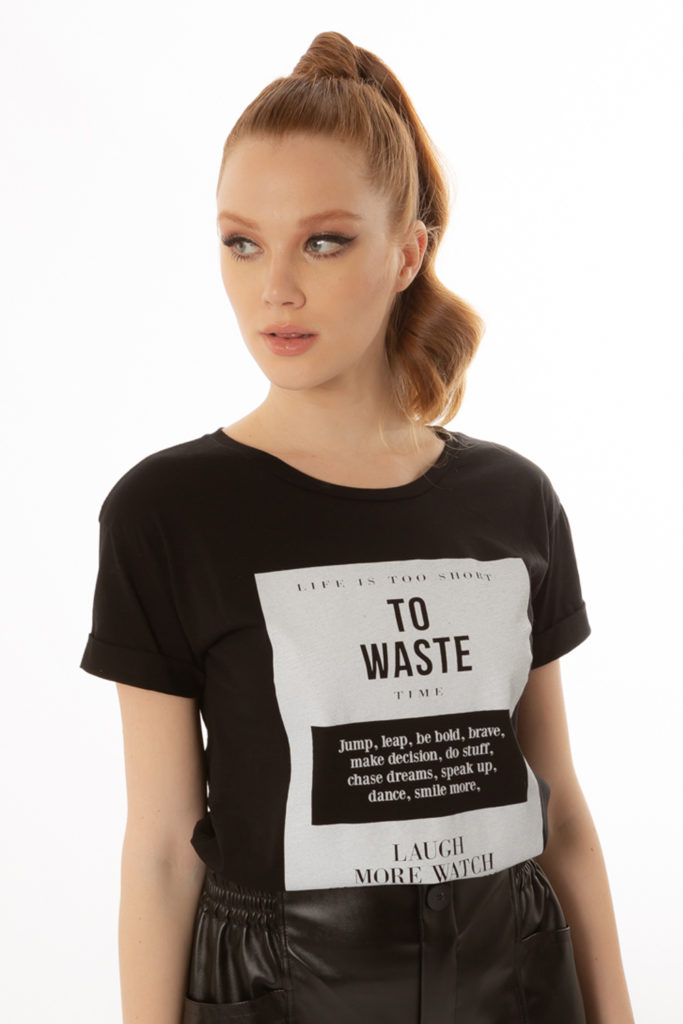T-SHIRT STAMPA TO WASTE